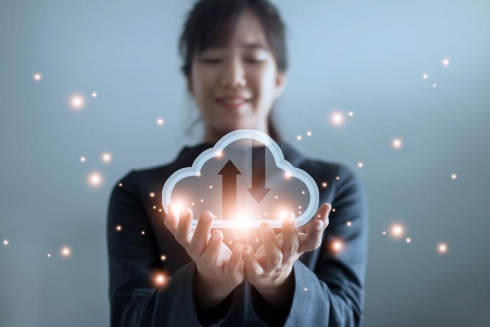 Cloud computing security concept image