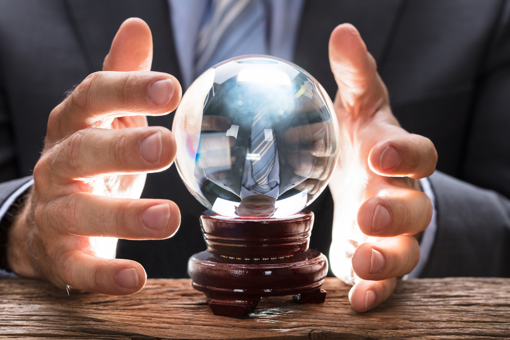 Managed security service professional looking into crystal ball